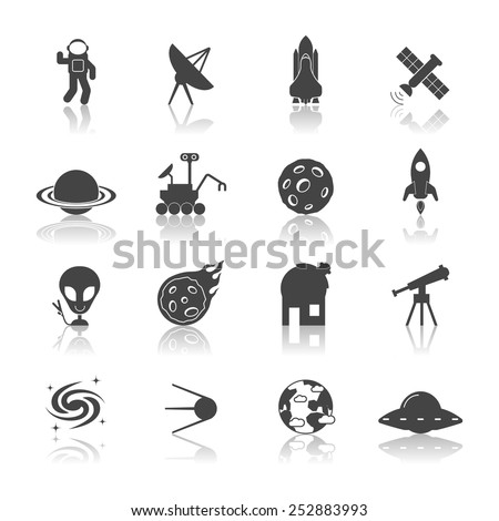 space galaxy exploration icons