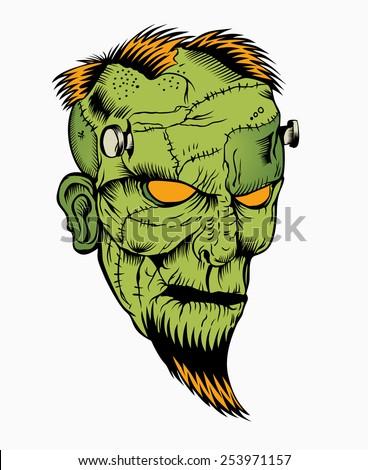 illustration of zombie head