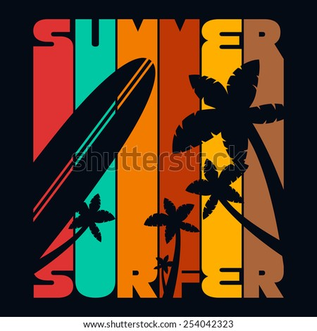 summer surfer t shirt