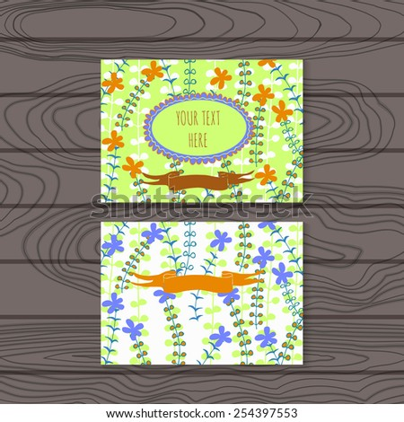 invitation and greeting card