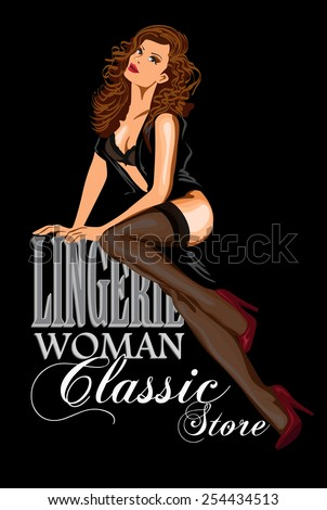 vector retro poster lingerie