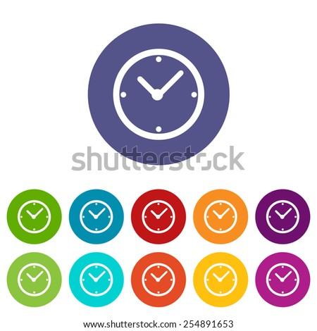 clock web flat icon in