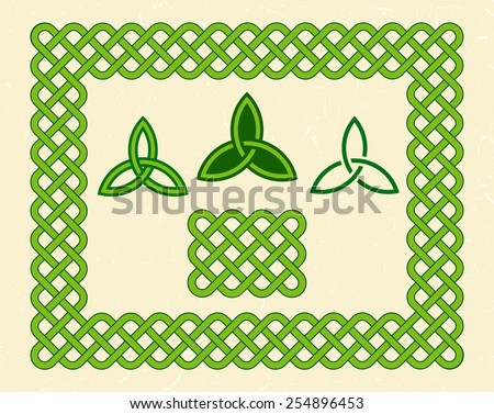 traditional green celtic style