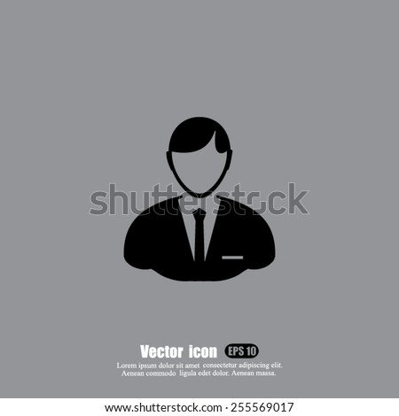 business man  vector icon