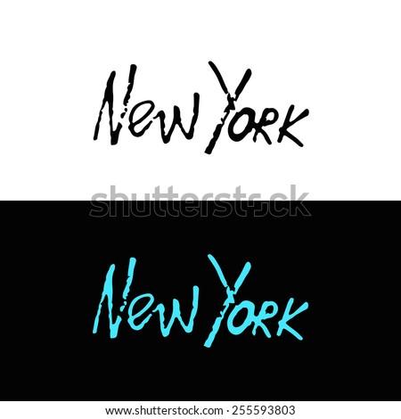 handwritten phrase new york