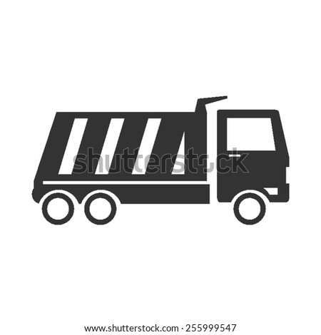 dump truck vector image to be