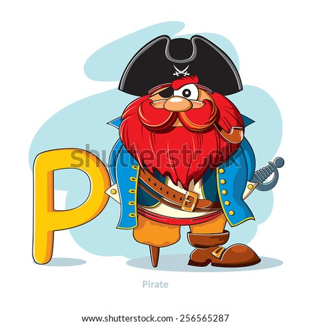 cartoons alphabet   letter p