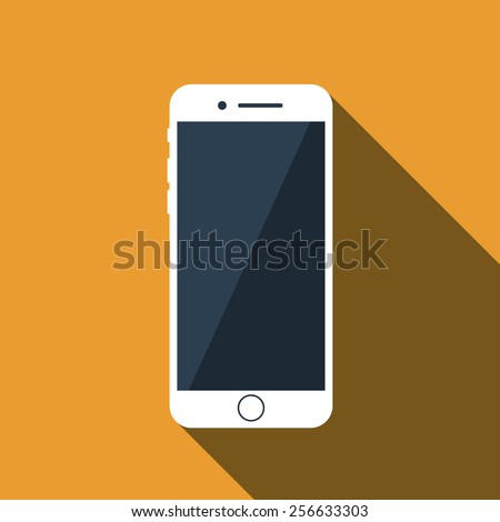 vector flat icon of phone