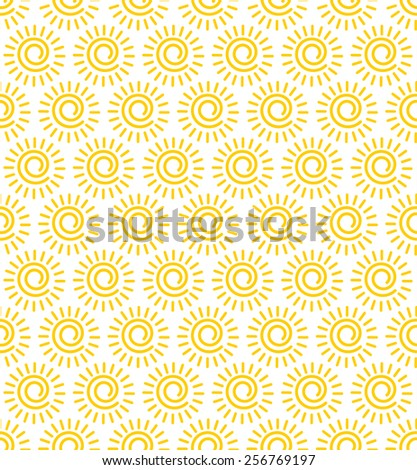 sun seamless vector pattern