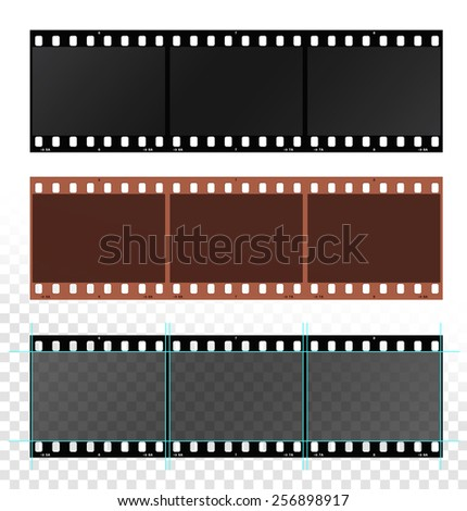 template for film strip vector