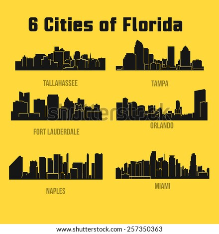 set of cities in florida