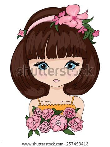 beautiful romantic girl cute