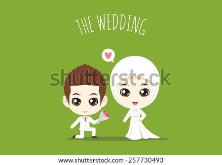 the wedding of muslim couple