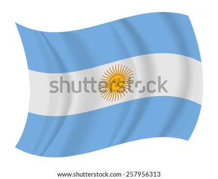 design argentina flag waving