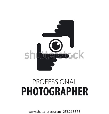 logo camera in the hands of the