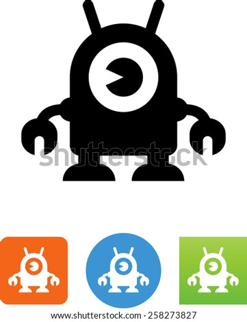 bot symbol for download vector