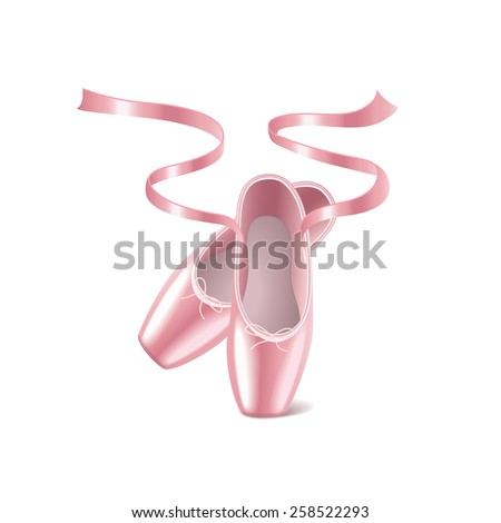 ballet shoes isolated on white