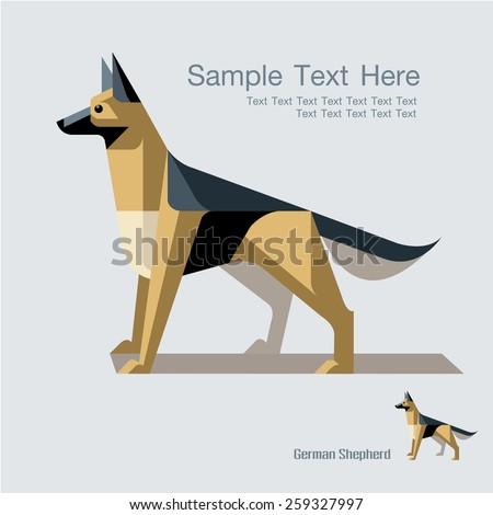 cute german shepherd dog design