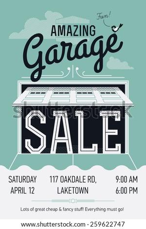 creative vector garage or yard