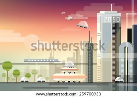 modern futuristic industrial