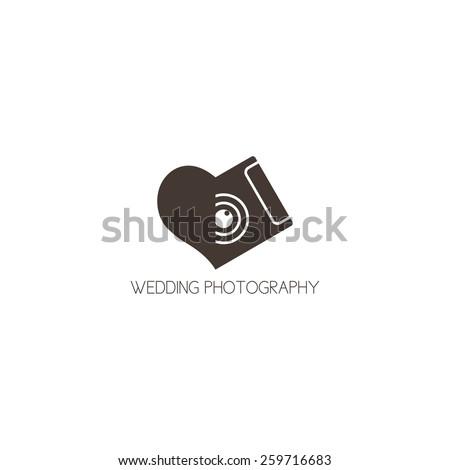 concept logo of wedding