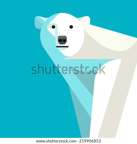 vector illustration of a polar
