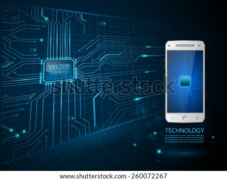 touchscreen smartphone with