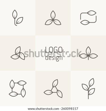 vector set of natural logo