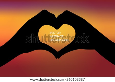 vector image of two hands in a