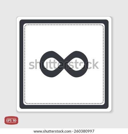 infinity sign flat design