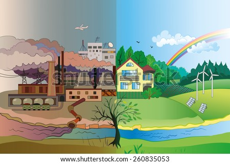 ecology concept vector  urban