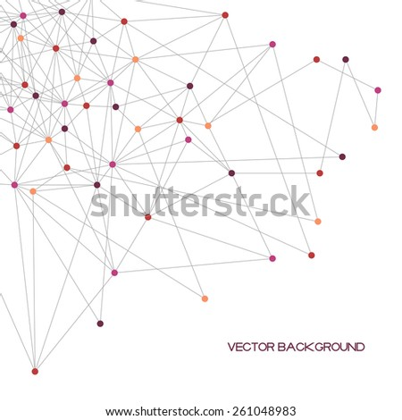abstract polygonal vector