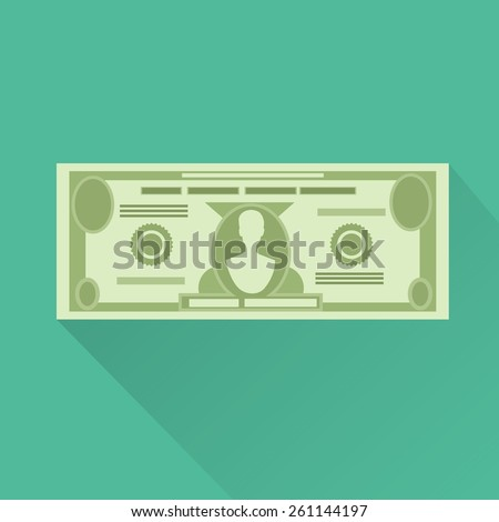 dollar currency banknote green