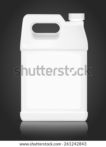 blank plastic bottle for