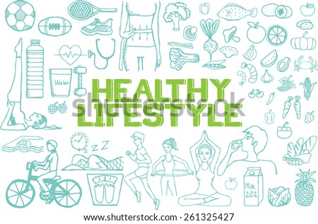 hand drawn about healthy