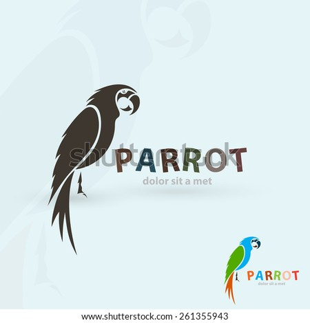 artistic stylized parrot icon