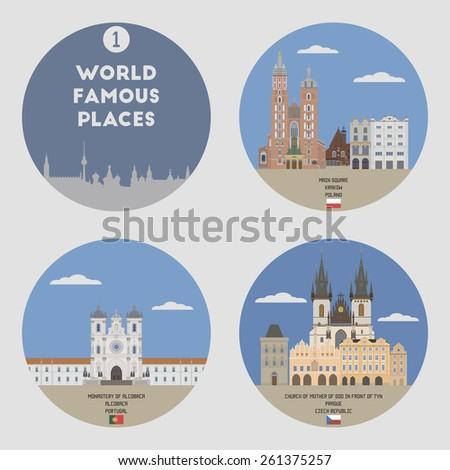 world famous places set 1