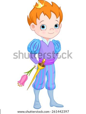 illustration of cute little