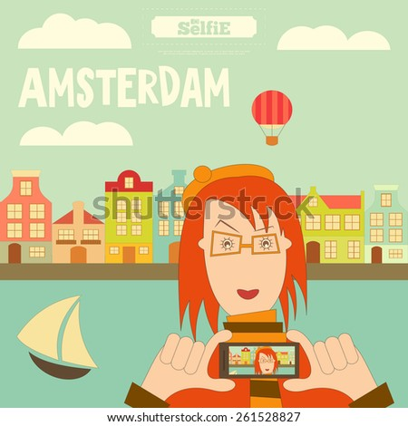 amsterdam holland card with