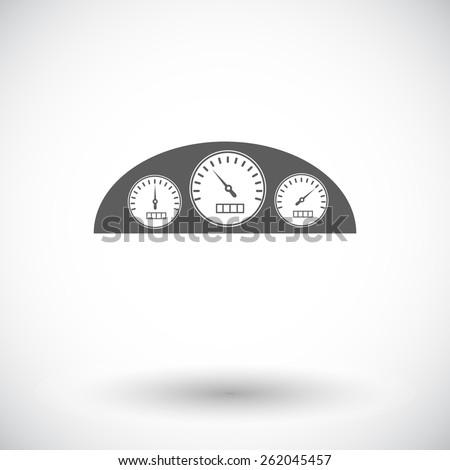 dashboard single flat icon on