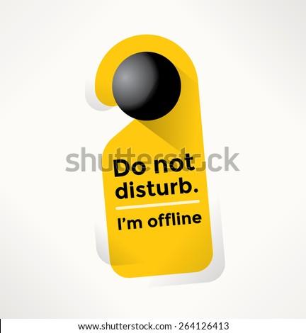 do not disturb door sign with i'