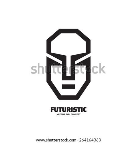 abstract human face   vector