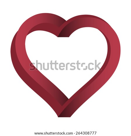 impossible heart  heart vector