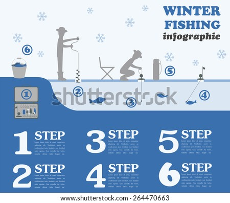 fishing infographic winter