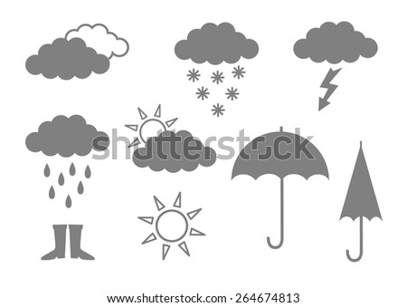 grey icons on white background