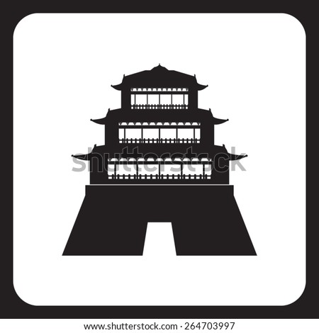 asian building or castle icon