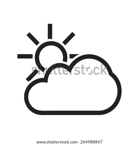 partly cloudy vector image to