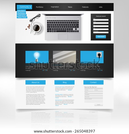 website template and business