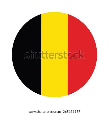 round belgium flag vector icon