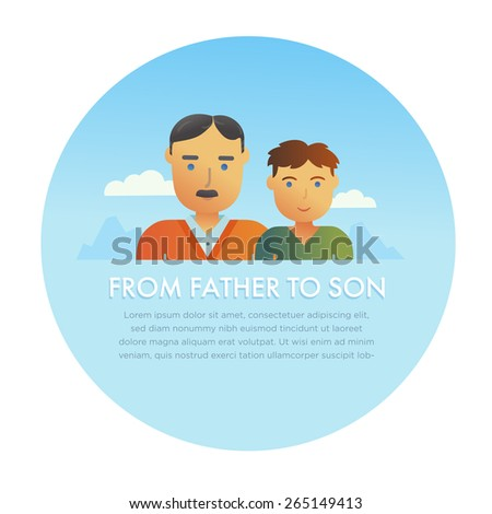 father and son vector